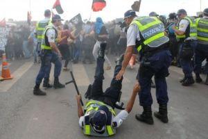 احتجاجات عنيفة ضد خطة التقشف في البرازيل التى قام بها الرئيس ميشيل تامر