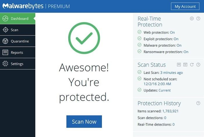 تحميل برنامج الحماية من الفيروسات Malwarebytes Anti-Malware
