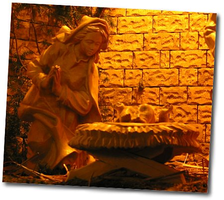 Maria (Krippe - St. Antonius Künzell - Detailaufnahme)