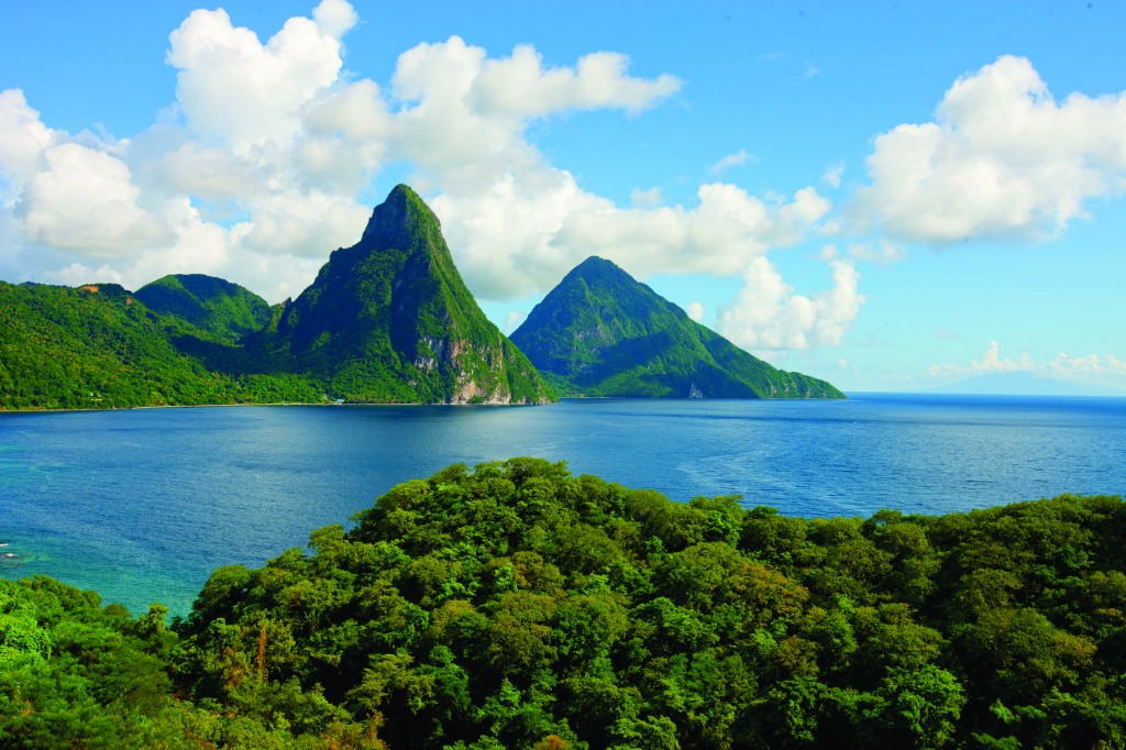 pitons soufriere in st lucia