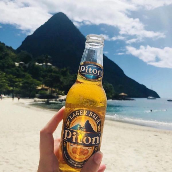 Drin k in St.Lucia Piton beer