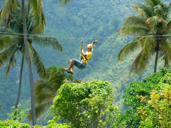 Zipline in St.Lucia