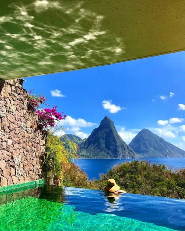 The View of st.Lucia