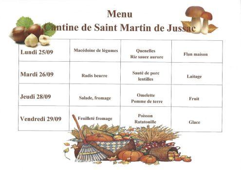 menu cantine S39