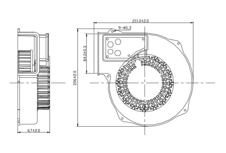 AC 1367 Series Blower