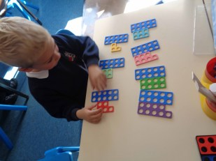 Working hard on teen numbers