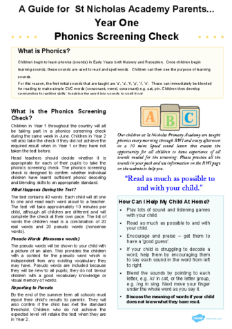 Year-1-Phonics-Screening – parent guide