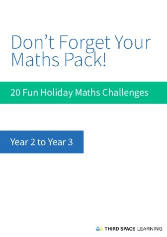 Y2-Y3 Holiday Maths Pack