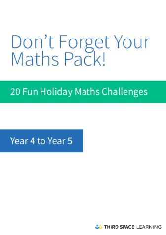 Y4-Y5 Holiday Maths Pack