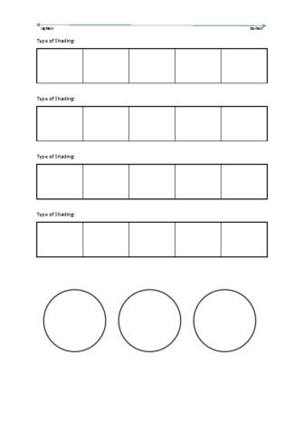 Shading worksheet
