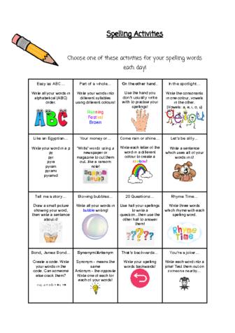 Spelling-Activities