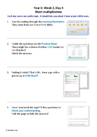 Day 4_Short multiplication
