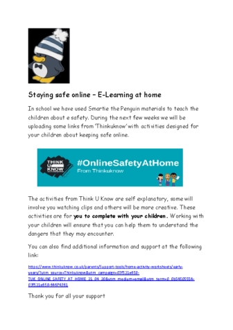 Staying safe online letter to accompany the first pack from think u know (1)
