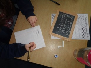 We learnt how to write in copperplate