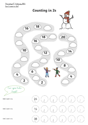Thursday 4th Counting in 2s