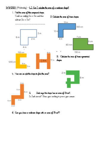 3.3.21 – Area of rectilinear shapes