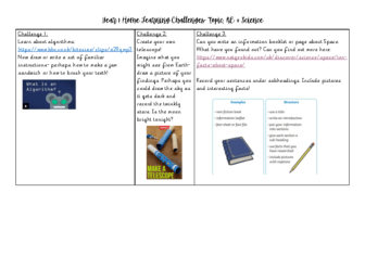 Year 1 Home Learning Challenges Week 6