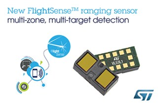 STMicroelectronics' Latest Time-of-Flight Ranging Sensor Brings Multi-Object Detection and Multi-Array Scanning to Mobile Applications