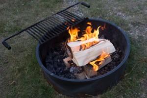 Campfeuer nahe Yellowstone