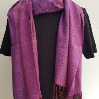 scarf from Sukhothai in three purple shades