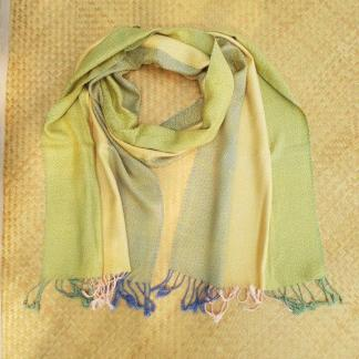 Scarf From Sukhothai Colors Yellow - Green - Blue