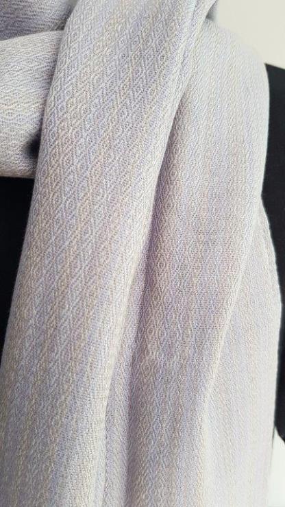 light gray scarf