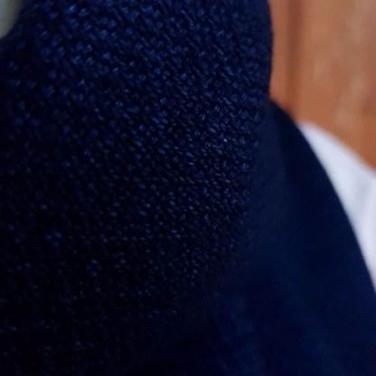Dark blue indigo scarf