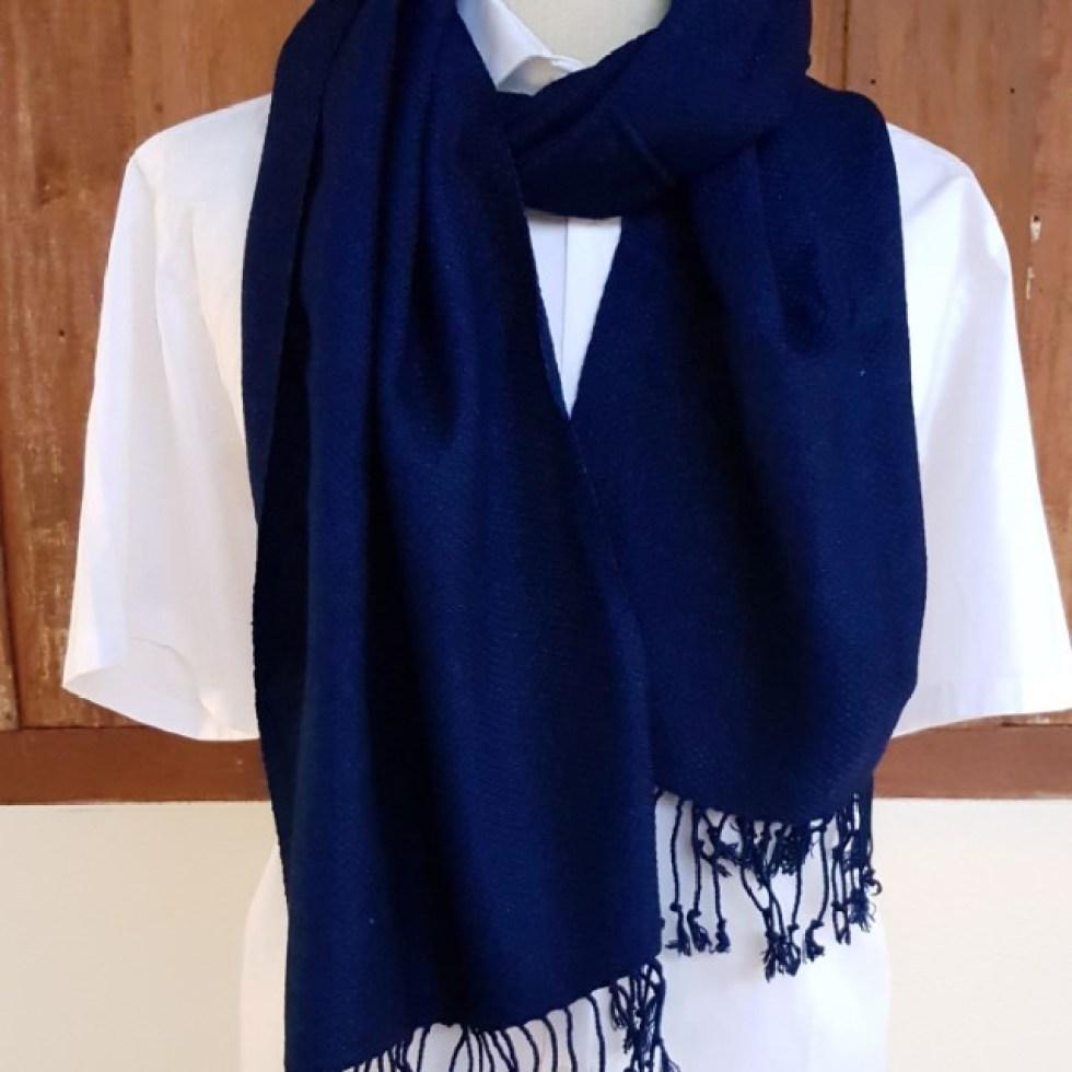 donkerblauwe indigo sjaal