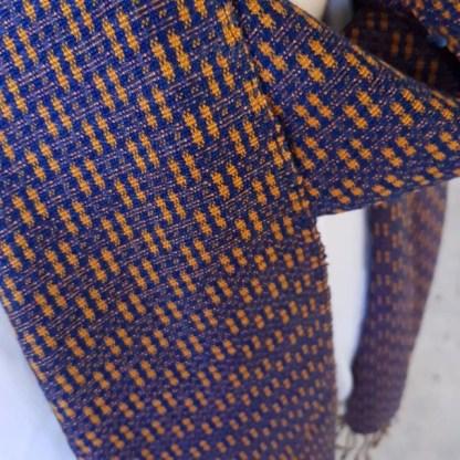 blue orange scarf