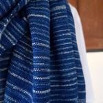 indigoblauwe sjaal