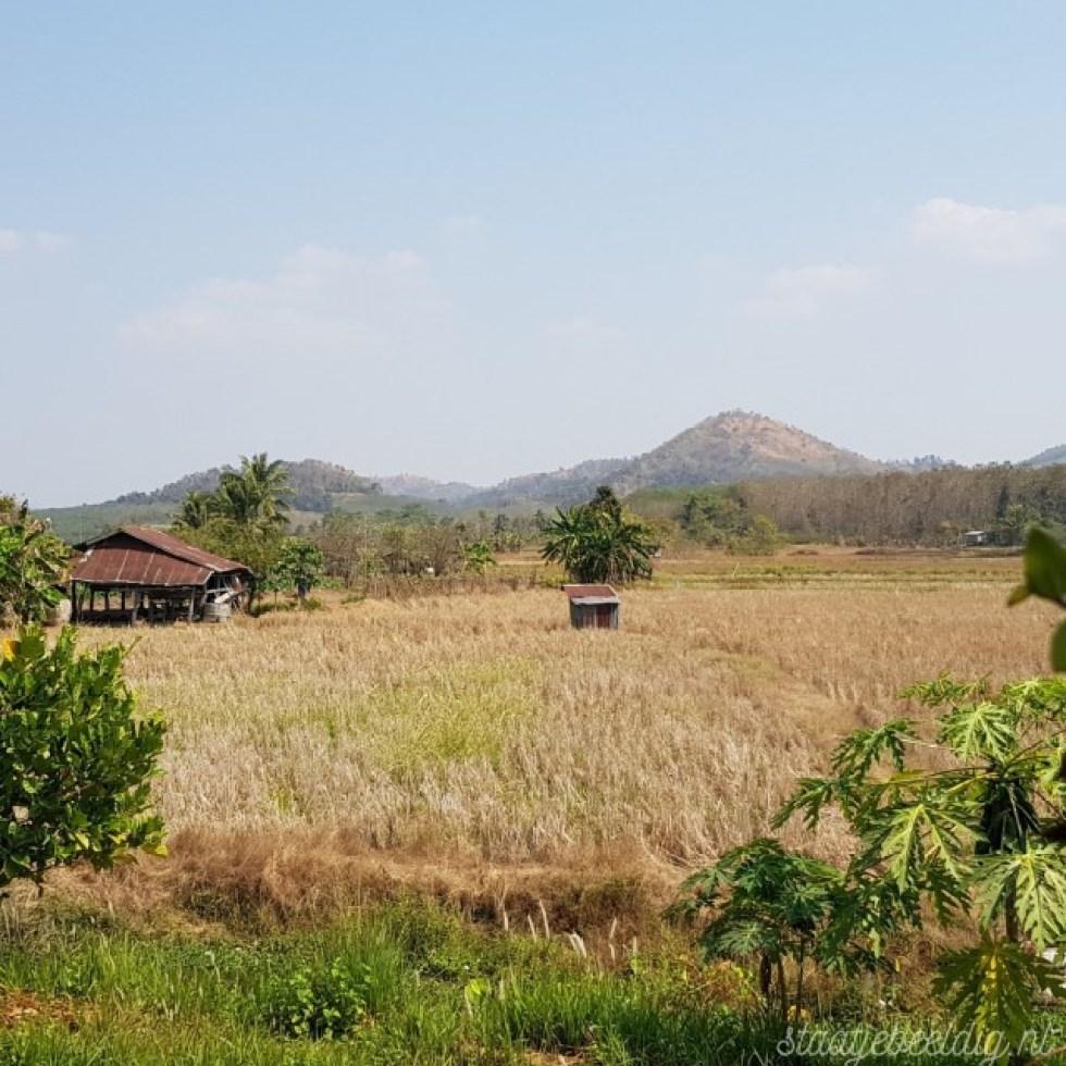 het droge landschap in thailand