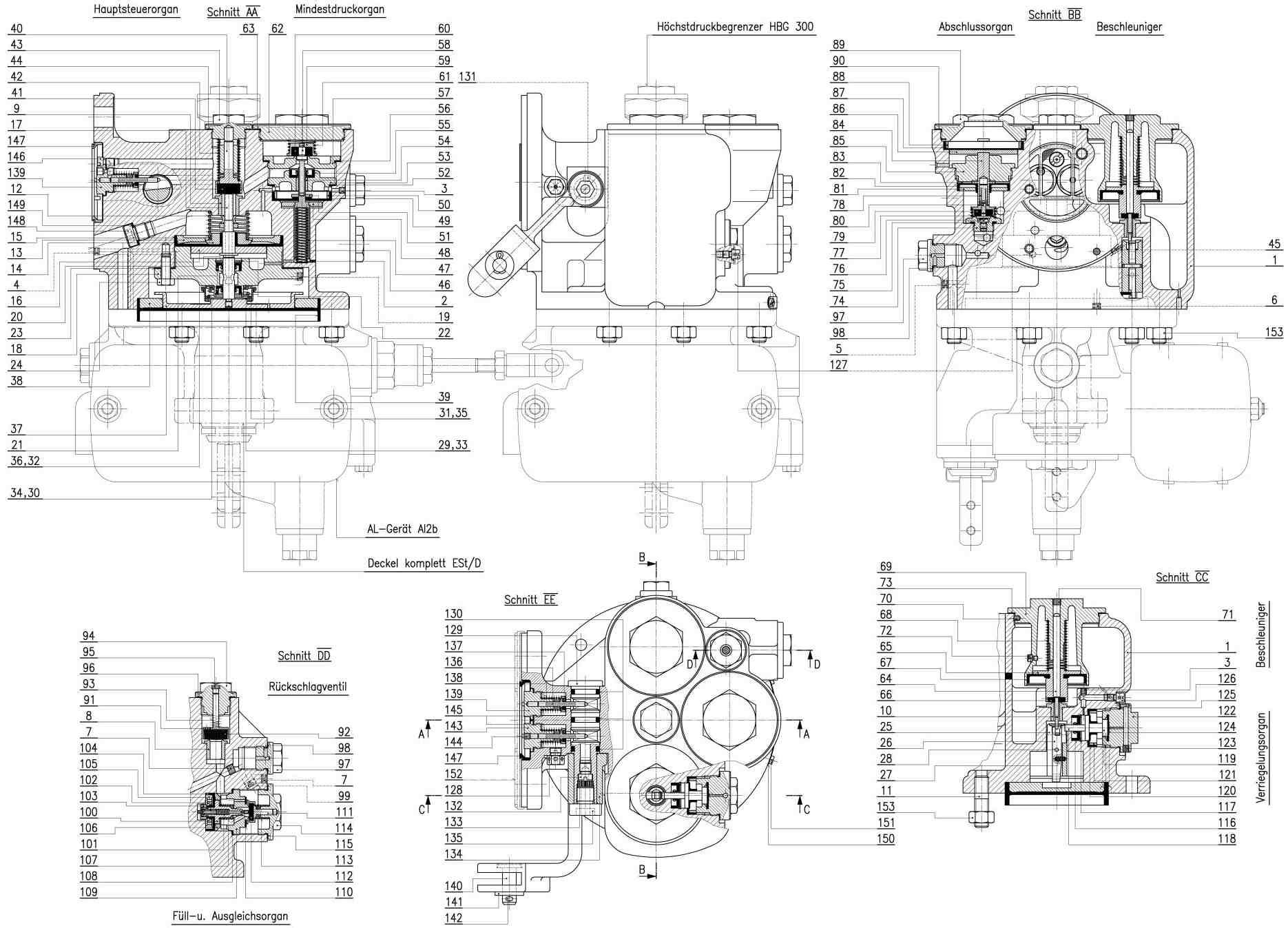 Spare Parts List For Steuerventil Type Est 3f Hbg 300 Est3f Type I B Standard Sheet N 003 002