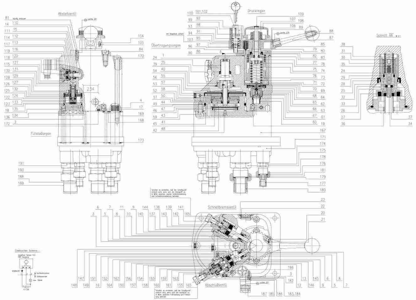 Ersatzteilstuckliste Fur Fuhrerbremsventil Ohne Anschlusse Fv 48 B Normblatt N 001 027 Zur