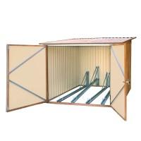 Metall Fahrradgarage / Fahrradbox Holz-Dekor Eiche
