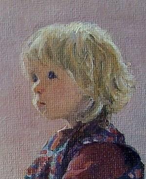 Sally Jones portrait painting