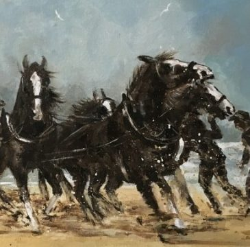 Workshop for drawing and painting horses and riders