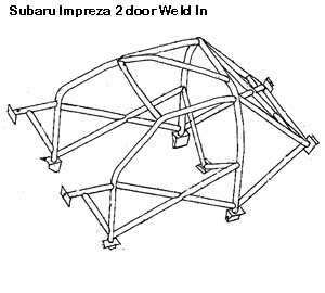 Roll Cage Weld-In Subaru Impreza-Stable Energies