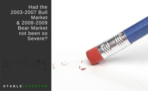 Had the 2003-2007 Bull Market & 2008-2009 Bear Market not been so Severe?
