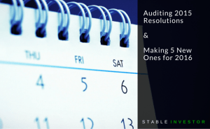 Auditing my 2015 Resolutions & making 5 New Ones for 2016