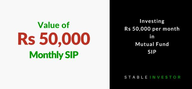 Invest 50000 month SIP