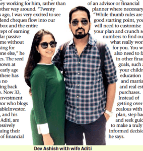 Featured in Mumbai Mirror (for How to Retire at 40)