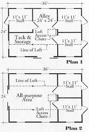 StableWise Gallery  Lancaster two or three stall barn layout