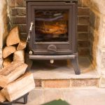 Self-catering accommodation in Northumberland, Pippin cottage log-burner