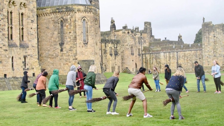 Broomstick Training at Alnwick Castle with Lundgren Tours
