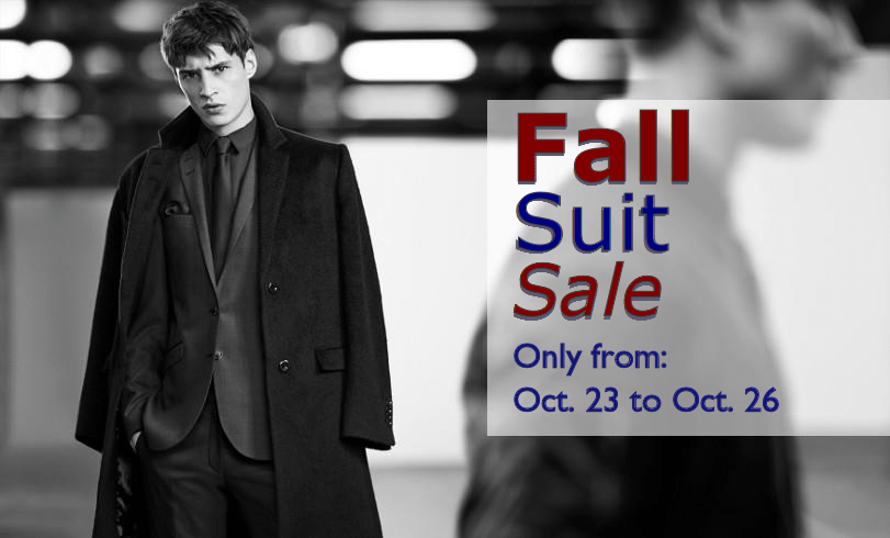 Fall suit sale web slider image