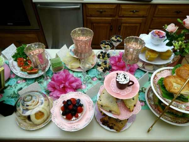 tea party buffet