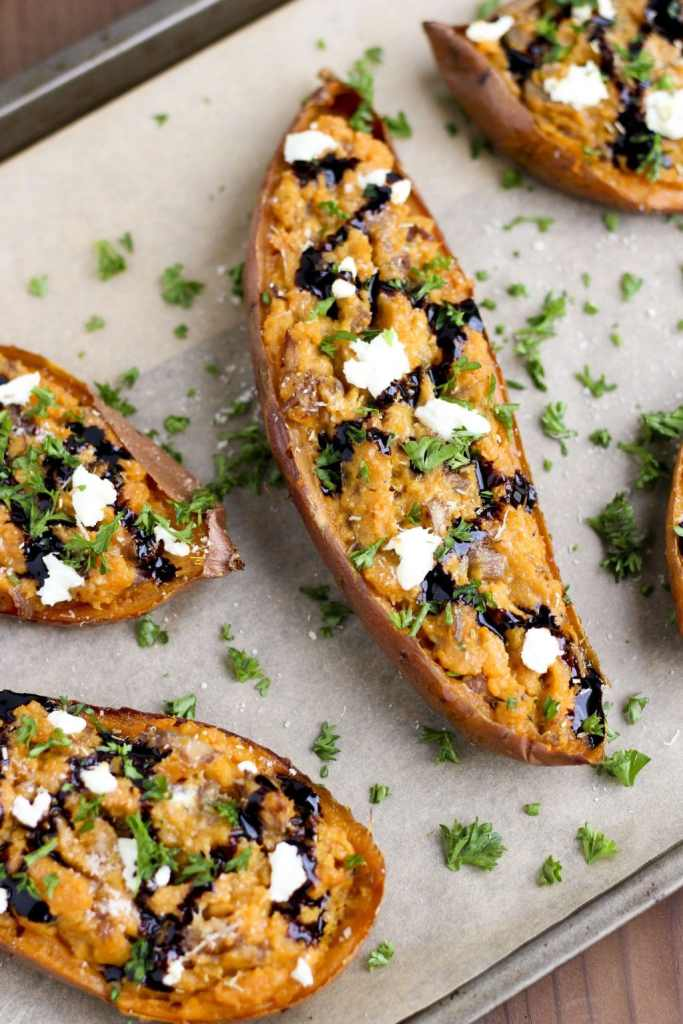 stuffed-sweet-potatoes-with-balsalmic-onions-goat-cheese