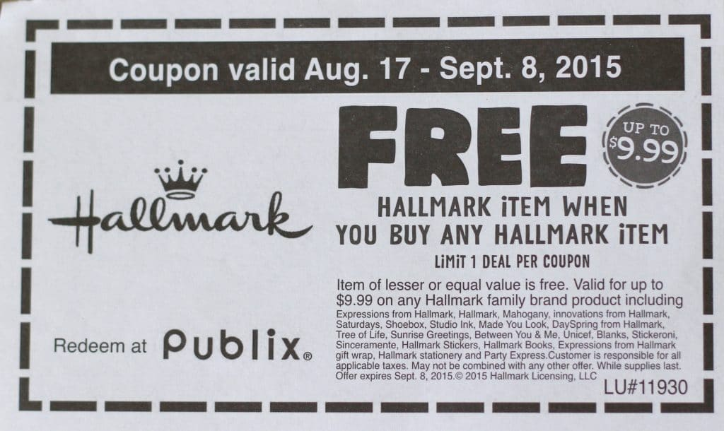 Publix Shopping Trip 9/3/15