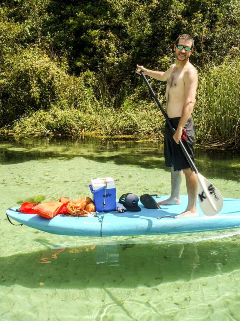 We went stand up paddle boarding (SUP) on the Weeki Wachee river!