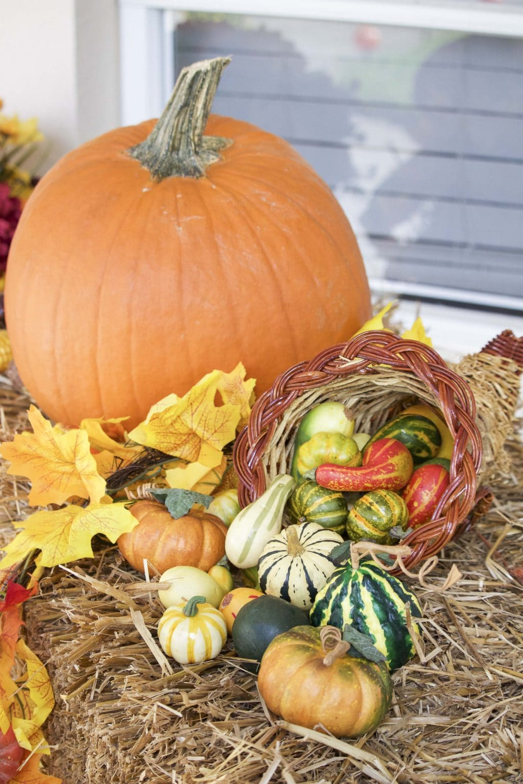 decorate your front porch for fall copy 3 - Outside Fall Decorations